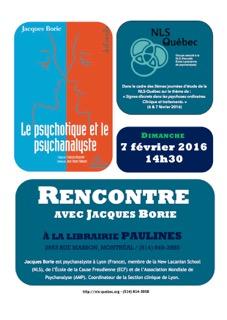 Affiche Jacques Borie