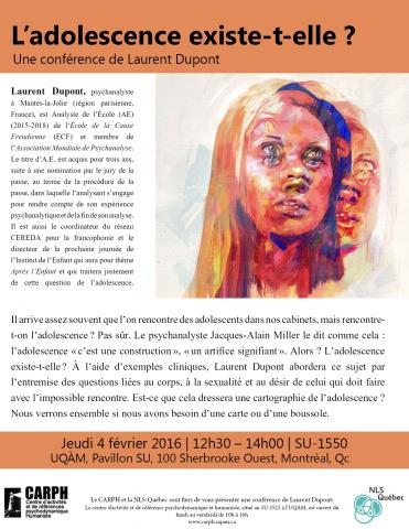 Affiche CARPH Laurent Dupont